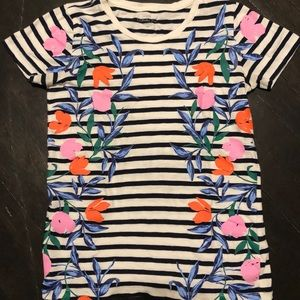 Super cute floral and striped J.Crew Tee!